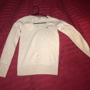 Lacoste White/Creme Sweater long sleeve
